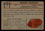 1953 Bowman #7  Francis Polsfoot  Back Thumbnail