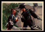1958 Topps Zorro #31   Locked Swords Front Thumbnail
