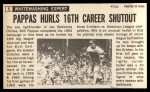 1964 Topps Giants #5  Milt Pappas   Back Thumbnail