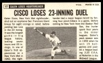 1964 Topps Giants #47  Galen Cisco  Back Thumbnail