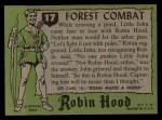 1957 Topps Robin Hood #17   Forest Combat Back Thumbnail