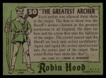 1957 Topps Robin Hood #50   The Greatest Archer Back Thumbnail