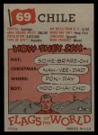 1956 Topps Flags of the World #69   Chile Back Thumbnail