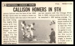 1964 Topps Giants #36  Johnny Callison   Back Thumbnail