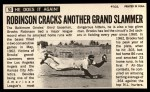 1964 Topps Giants #50  Brooks Robinson   Back Thumbnail