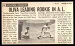 1964 Topps Giants #44  Tony Oliva   Back Thumbnail