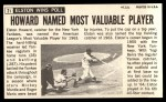 1964 Topps Giants #21  Elston Howard   Back Thumbnail