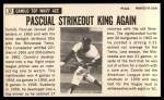 1964 Topps Giants #32  Camilo Pascual   Back Thumbnail
