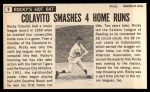 1964 Topps Giants #9  Rocky Colavito   Back Thumbnail