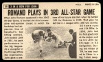 1964 Topps Giants #59  John Romano   Back Thumbnail