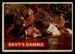 1956 Topps Davy Crockett #11 GRN  Davy's Gamble  Front Thumbnail