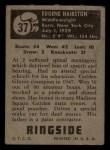 1951 Topps Ringside #37  Eugene Hairston  Back Thumbnail