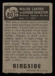 1951 Topps Ringside #80   -  Walter Cartier / Eugene Hairston Cartier vs Hairston Back Thumbnail