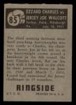 1951 Topps Ringside #85   -  Jersey Joe Walcott / Ezzard Charles Walcott vs Charles Back Thumbnail