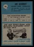 1964 Philadelphia #66  Joe Schmidt  Back Thumbnail