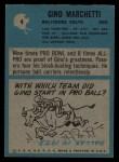 1964 Philadelphia #4  Gino Marchetti  Back Thumbnail