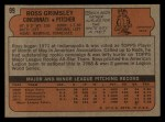 1972 Topps #99  Ross Grimsley  Back Thumbnail