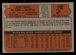 1972 Topps #107  Jose Cruz  Back Thumbnail