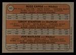 1972 Topps #141   -  Jon Matlack / Buzz Capra / Leroy Stanton Mets Rookies   Back Thumbnail