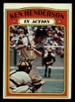 1972 Topps #444   -  Ken Henderson In Action Front Thumbnail