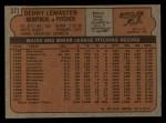 1972 Topps #371  Denny Lemaster  Back Thumbnail