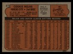 1972 Topps #415  Cookie Rojas  Back Thumbnail