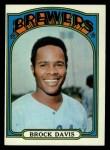 1972 Topps #161  Brock Davis  Front Thumbnail