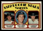 1972 Topps #124   -  Alan Closter / Roger Hambright / Rusty Torres Yankees Rookies   Front Thumbnail