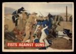 1956 Topps Davy Crockett #71 ORG  Fists Against Guns  Front Thumbnail