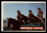 1956 Topps Davy Crockett #47 ORG  Trouble Ahead  Front Thumbnail
