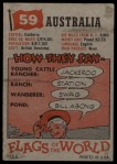 1956 Topps Flags of the World #59   Australia Back Thumbnail