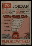 1956 Topps Flags of the World #70   Jordan Back Thumbnail