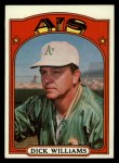 1972 Topps #137  Dick Williams  Front Thumbnail