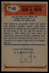 1955 Bowman #45  Gene Brito  Back Thumbnail