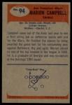 1955 Bowman #94  Marion Campbell  Back Thumbnail