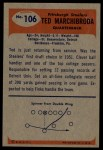 1955 Bowman #106  Ted Marchibroda  Back Thumbnail