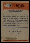 1955 Bowman #109  Jim Ricca  Back Thumbnail