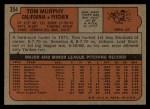 1972 Topps #354  Tom Murphy  Back Thumbnail