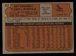 1972 Topps #353  Art Shamsky  Back Thumbnail