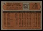 1972 Topps #258  Randy Hundley  Back Thumbnail