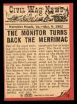 1965 A and BC England Civil War News #10   Destruction at Sea Back Thumbnail