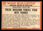 1965 Philadelphia War Bulletin #45   Tools of Victory Back Thumbnail