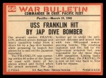 1965 Philadelphia War Bulletin #66   Floating Inferno Back Thumbnail