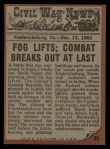 1962 Topps Civil War News #33   Fight for Survival Back Thumbnail