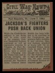1962 Topps Civil War News #21   Painful Death Back Thumbnail
