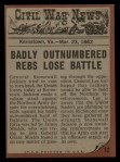 1962 Topps Civil War News #12   Bloody Combat Back Thumbnail