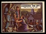 1962 Topps Civil War News #25   Hanging the Spy Front Thumbnail