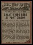 1962 Topps Civil War News #40   Bullets of Death Back Thumbnail
