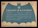 1966 Topps Batman Blue Bat Back #39 BLU  Caught in Cavern Back Thumbnail