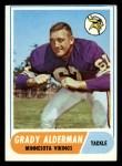 1968 Topps #3  Grady Alderman  Front Thumbnail